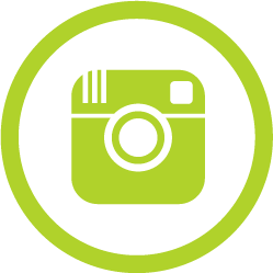 instagram logo green