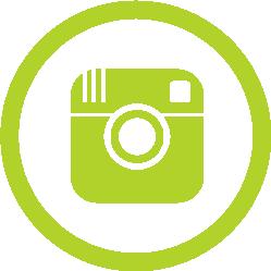 instagram logo green