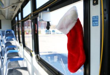 Stocking Hanging in Bus