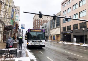 Bus on Main Street